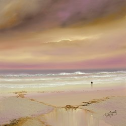 Just The Two Of Us by Philip Gray - Original Painting on Box Canvas sized 24x24 inches. Available from Whitewall Galleries